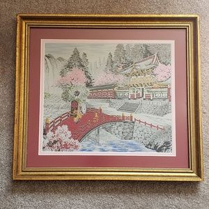 Vintage Wall Art - Vintage Chinese Silk Embroidered Tapestry c.1969